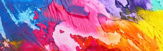 עיצוב באמצעות צבעים אקריליים