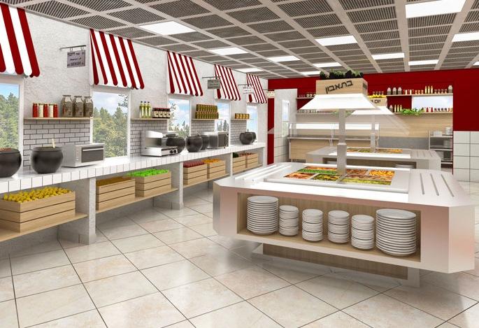 עיצוב חדר אוכל בכפר נוער