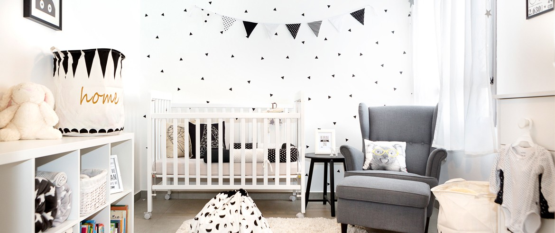 עיצוב חדר תינוק בדירת קבלן