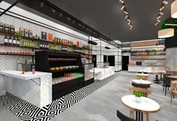 עיצוב בית קפה קפיטריה