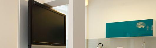 עיצוב קיר מסך הטלוויזיה