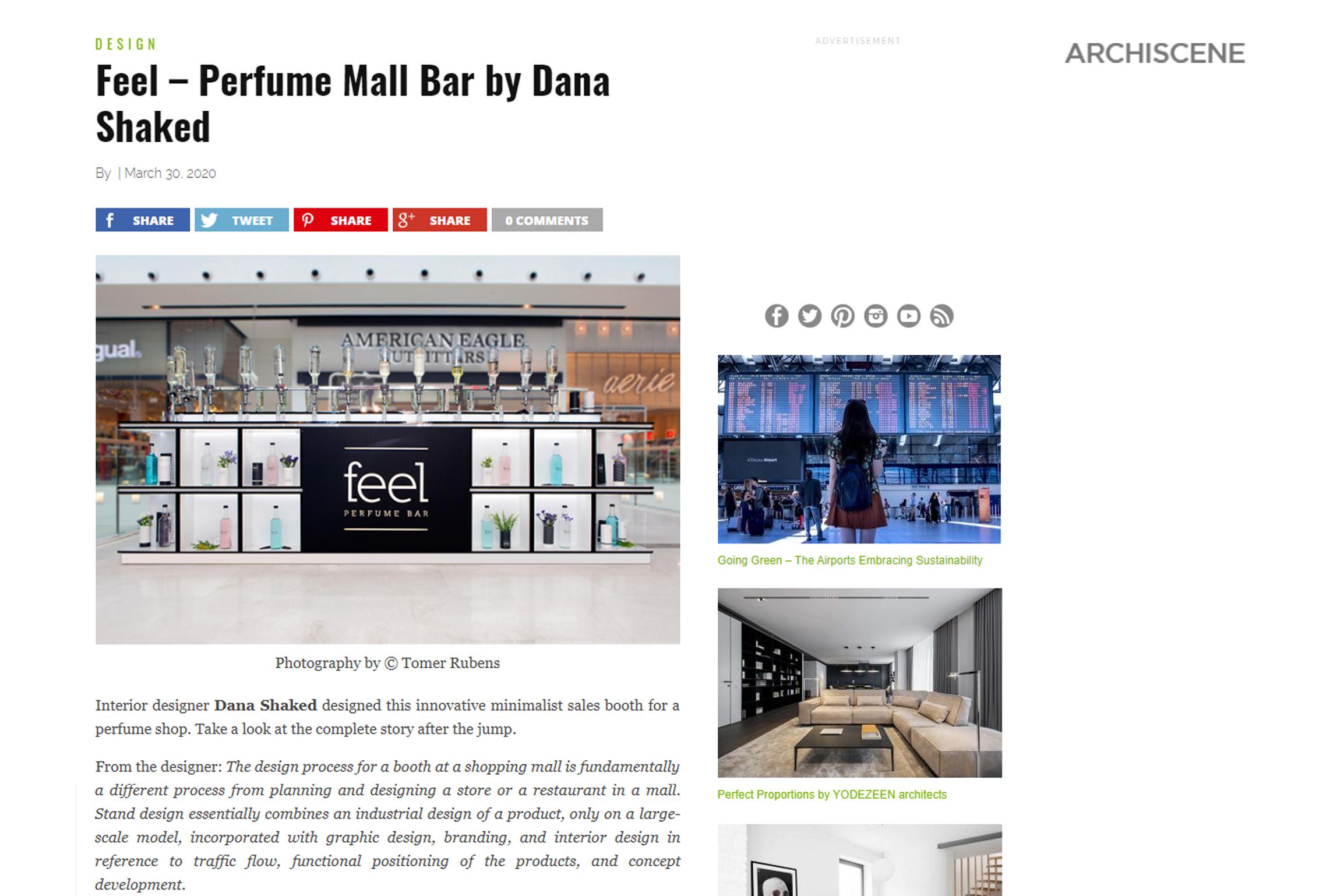 Feel Perfume Bar – Archiscene
