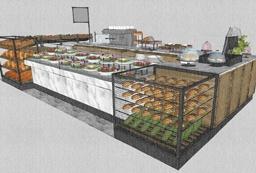 עיצוב דוכן מזון בקניון