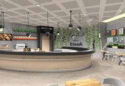 עיצוב בית קפה במתחם הקאמרי