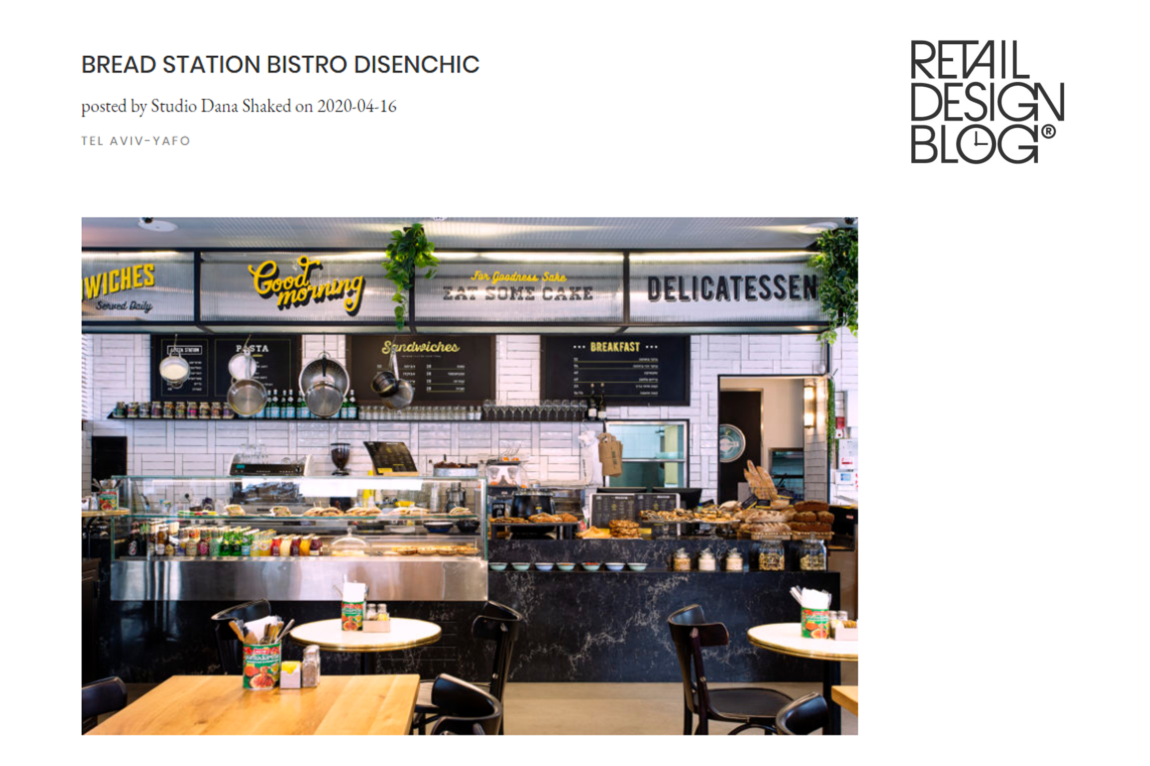 Bread Staion Disenchic – Retail Design Blog