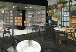 עיצוב מעדניה – בית קפה