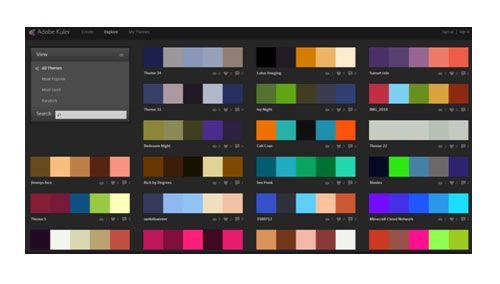 אתר סכמת הצבעים- kuler.adobe.com