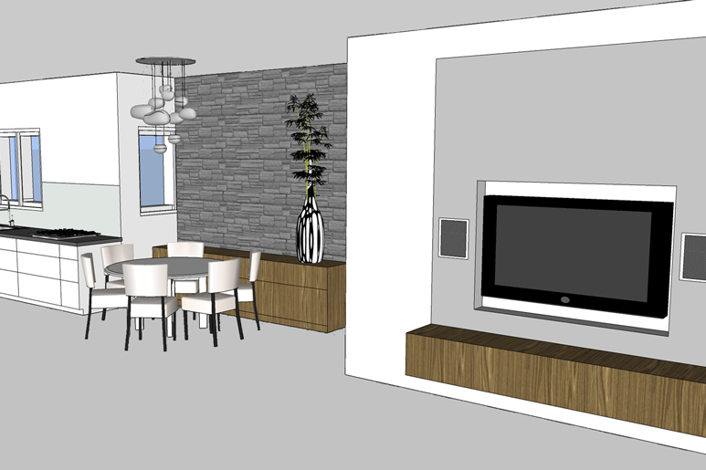 עיצוב דירת קבלן בקווים מודרניים