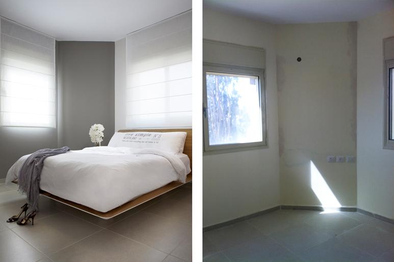 לפני ואחרי עיצוב חדר שינה