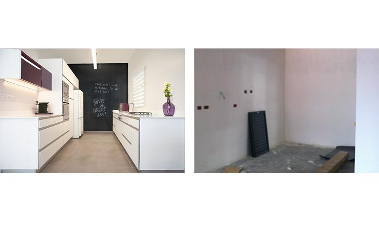 לפני ואחרי עיצוב דירת קבלן
