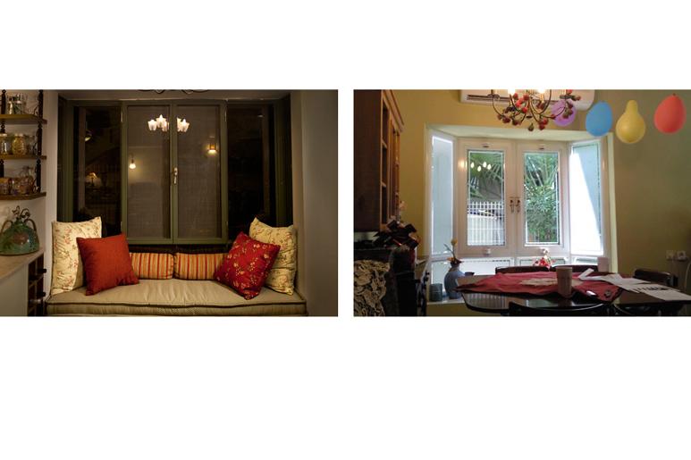 לפני ואחרי שיפוץ ועיצוב פינת ישיבה