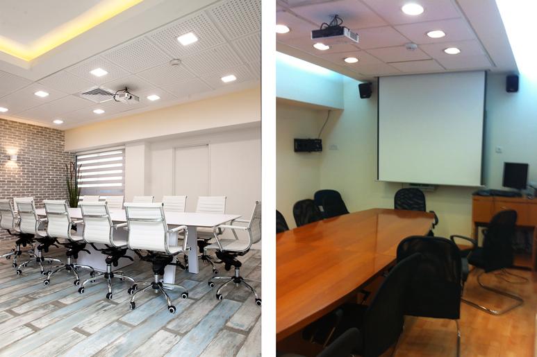 לפני ואחרי עיצוב חדר ישיבות