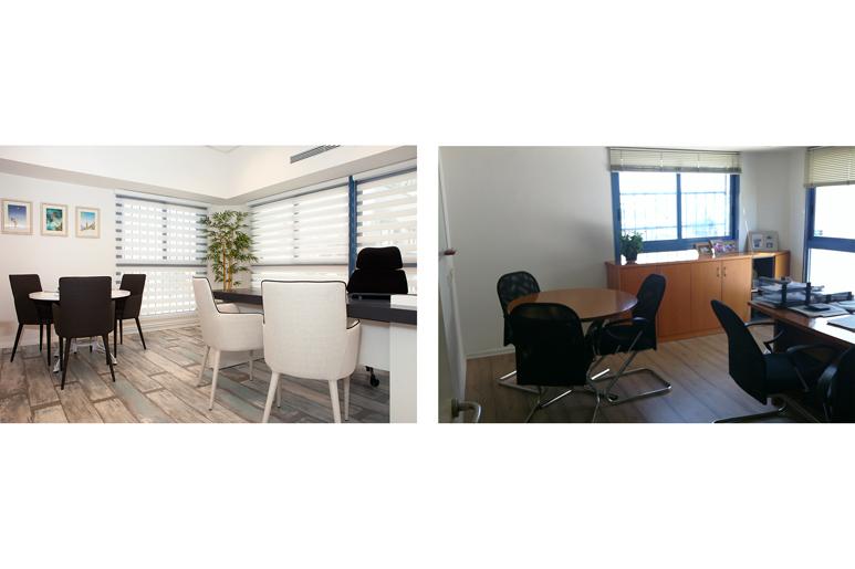 לפני ואחרי עיצוב משרד מנכ