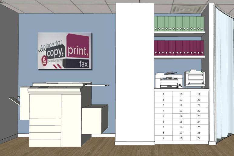 עיצוב משרדים - מסדרון שירות