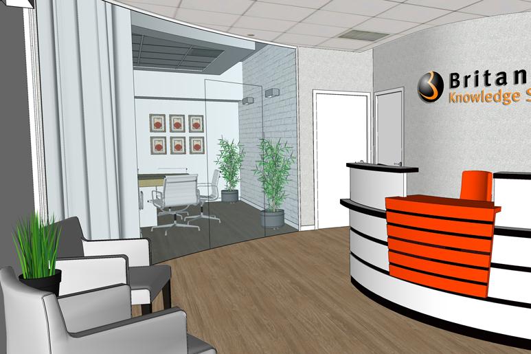 עיצוב משרדים - אזור הקבלה