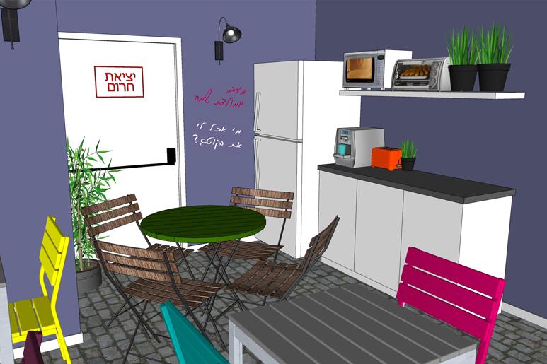 עיצוב משרדים - חדר אוכל