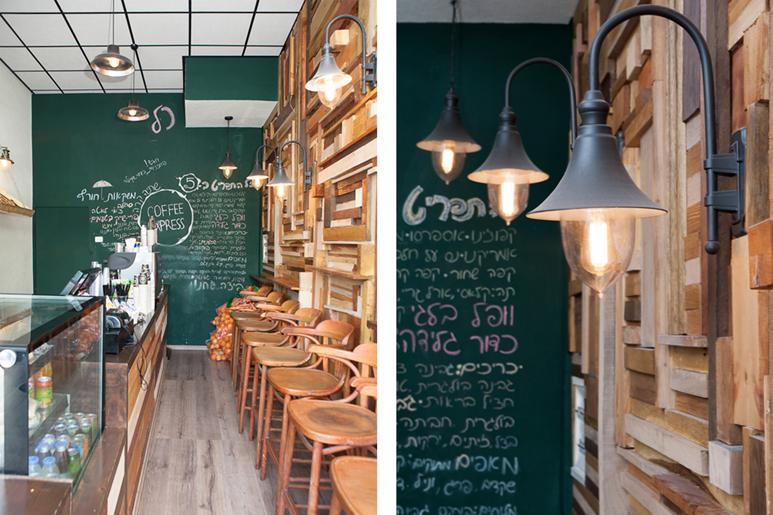 עיצוב בתקציב מוגבל של בית קפה בתל אביב