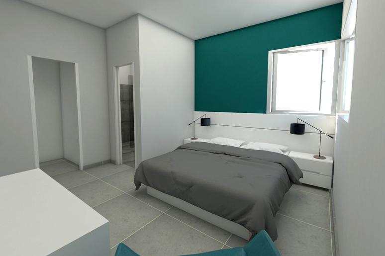 יחידת ההורים כוללת חדר ארונות וחדר רחצה