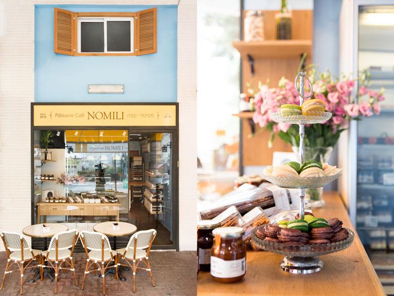 חזית קדמית עוצבה מראה חנות צרפתית קלאסית עם חלון גלריה משולב תריסי עץ