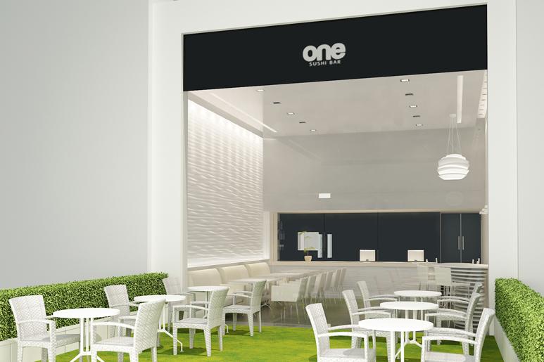עיצוב חזית ואזור הכניסה למסעדה - מבט מהרחוב